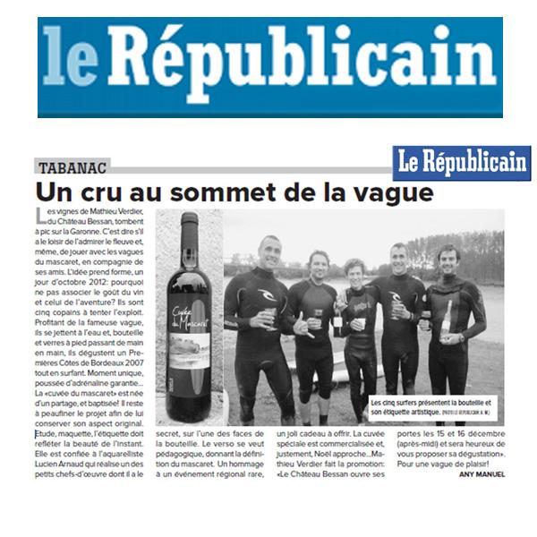 article-presse-le-republicain-cuvee-mascaret-mathieu-verdier